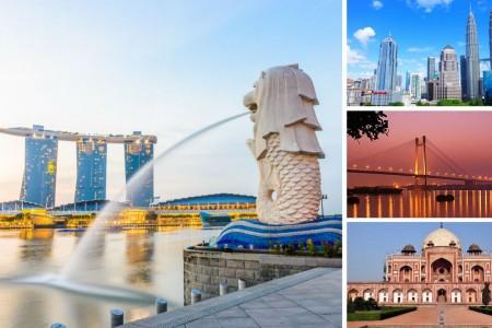 SINGAPORE - MALAYSIA - INDONESIA
