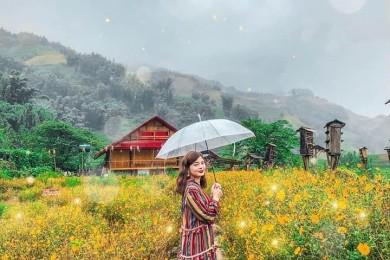 Đà Lạt: Ngôi Làng Cổ Tích - Hồ Vô Cực - Thung Lũng Đèn - Hoa Sơn Điền Trang - Quê Garden - Nhà Thờ Con Gà - Thác Pongour